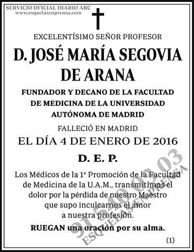 José María Segovia de Arana